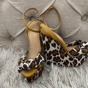 Charlotte Olympia Cheetah Wedge Sandal